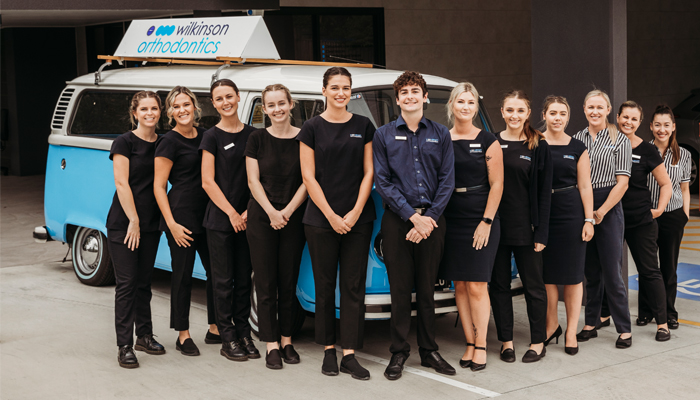 Wilkinson Orthodontics staff at the Helensvale clinic